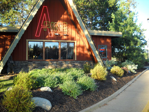 More than just great home style food, the A-Pine has a Gas Express, and a Paul Bunyan Roadside Park.
