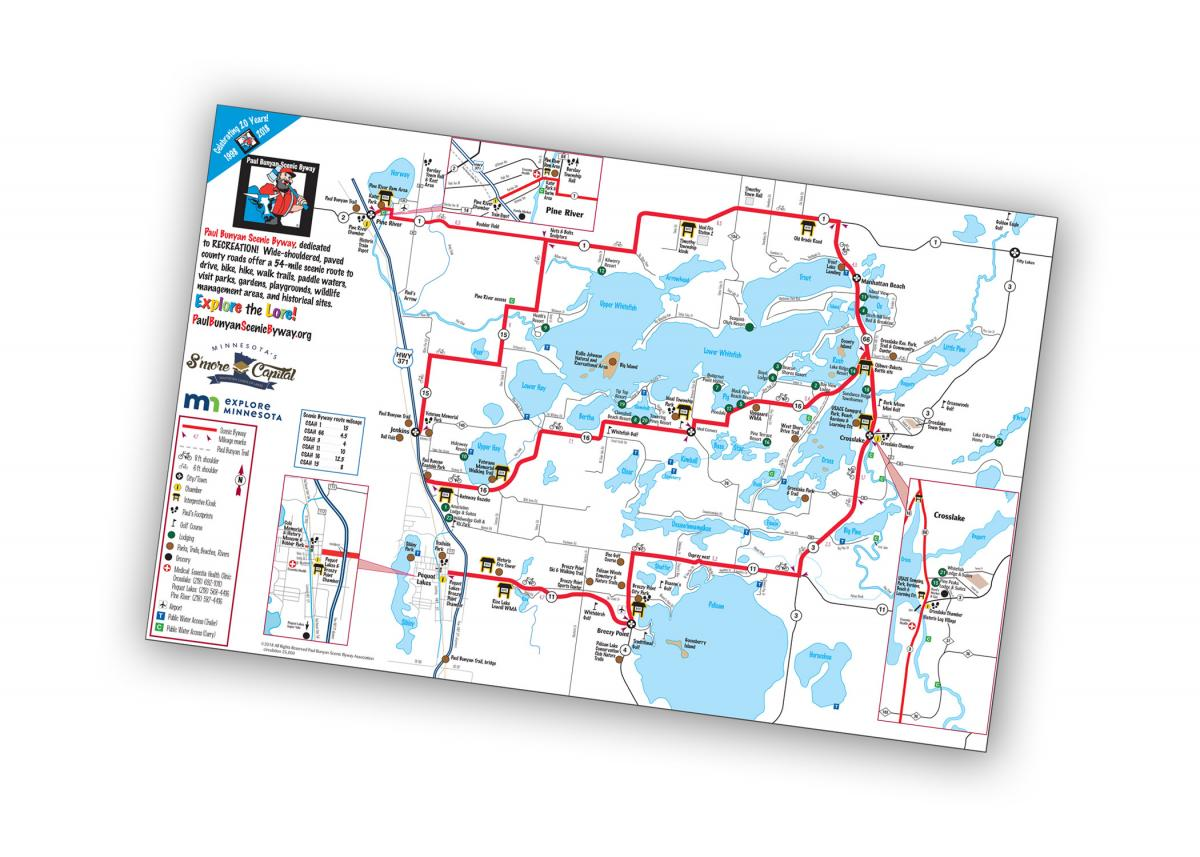 Paul Bunyan Scenic Byway Map for 2018