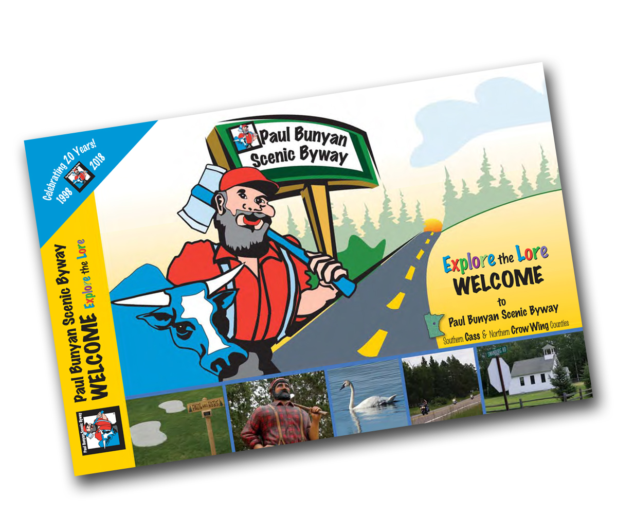 PBSBA new Welcome Brochure can be found on local area Discover Racks and at Scenic Byway kiosks along the Paul Bunyan Scenic Byway.