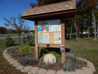 Breezy Point Park kiosk - learn how Breezy Point got its name.