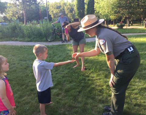 Monarch Butterfly release at USACE Cross Lake Recreation Area, Crosslake, MN