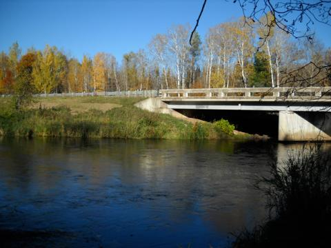 Pine River bridge on CSAH 15