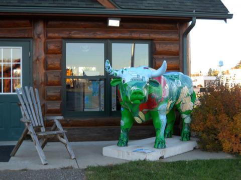 Babe the Blue Ox at the Pine River Welcome Center