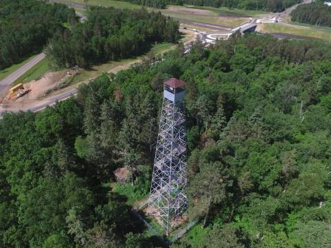 Pequot Lakes fire tower. Photo: Travis Grimler-EchoJournal