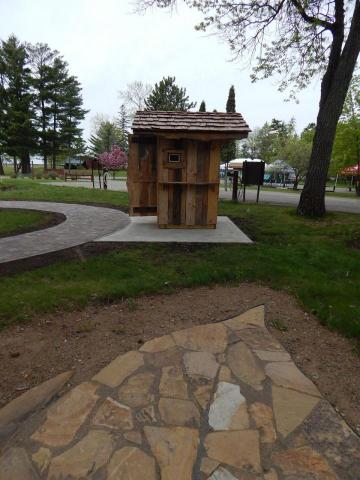 Play the audio at the outhouse talking box and hear stories of the gardens and logger style history.