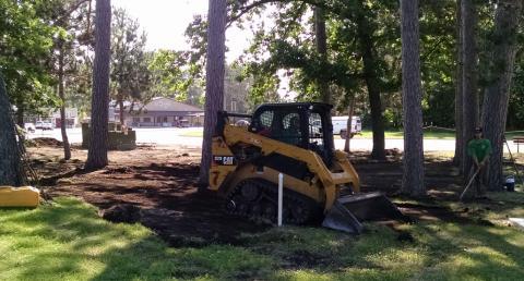 LA Lawn Care began excavating walking paths June 21st.