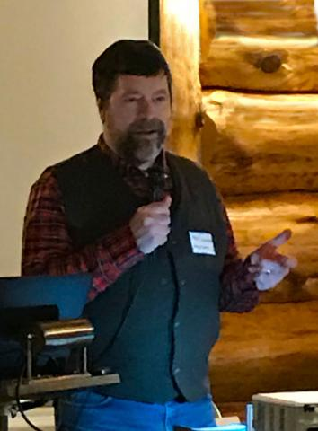 Member & volunteer, Mike Schwieters, shared his experiences interviewing and awarding student applicants for the Paul Bunyan Scenic Byway's annual 'Linda Ulland Memorial Scholarship'.