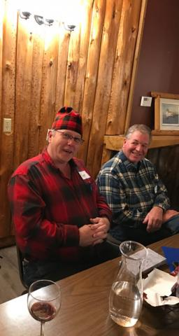 Roger Hoplin received a dapper new plaid stocking cap.