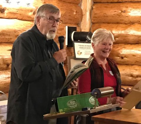 Rod Nelson and Carol Ottoson, closed the evening festivities with readings from a couple vintage Paul Bunyan story books.