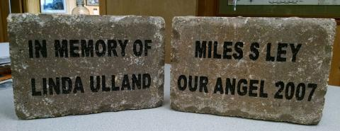 Leave a Legacy at the Linda Ulland Memorial Gardens with your personalized engraved Paver Brick.