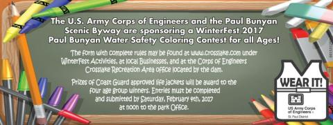 Print the Coloring Contest Poster and bring it in by noon on Sat. Feb 4th, 2017