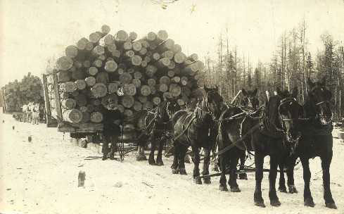 Historic log drives created many of the routes we use in this area today.